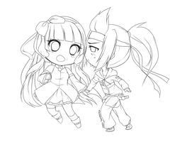 Commish: Couple chibis by YukikaChan