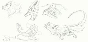 MLP Concept doodles: Dragon Gods by Earthsong9405