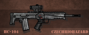 Fictional Firearm: HC-104 Assault Rifle by CzechBiohazard