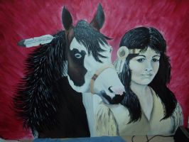 Indian Lady and Horsey by Cajun497