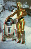 Droids on Hoth 3-D by MVRamsey