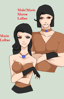 Marie LaRue with Genderbent by TheYaoiLover24