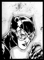 Catwoman headsketch... by adelsocorona