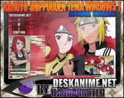 Kushina Uzumaki Theme Windows 7 by Danrockster