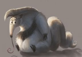Pudgy anteater by Silverfox5213