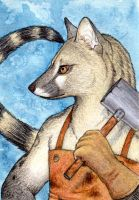 Profile of a Blacksmith by Yote