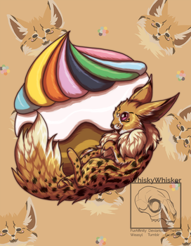 [Fanart] Eevee Puff by WhiskyWhisker