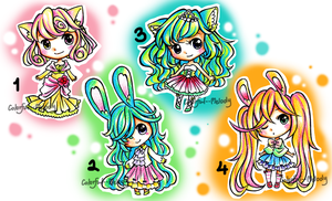 Kemonomimi Girls Adopt: CLOSED by Colorful--Melody