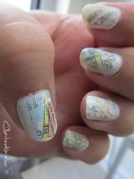 Travel Nails - Left hand by CharleneKaraline
