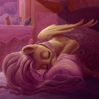 Fluttershy is sleeping by gor1ck