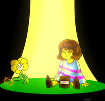 Flowey come to pot by Latheru