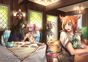 Golden Dinner by nicetsukichi