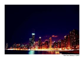 Chicago Night by vietkatthroughlense