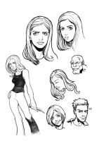 Buffy sketches 01 by PORTELA