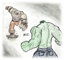 Hulk v Juggy Colored by SplendorEnt