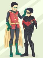 Damian and little Dick by LinART
