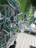 Cans On Our Bicycle Fenders by elephantrock