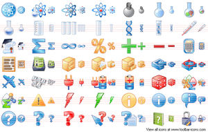 Science Toolbar Icons by Aha-soft
