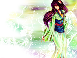 Mulan -wallpaper green- by AStudyInScarlet