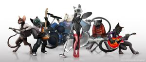 Cats band by Bahryi