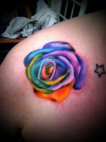 rainbow rose by BMXNINJA