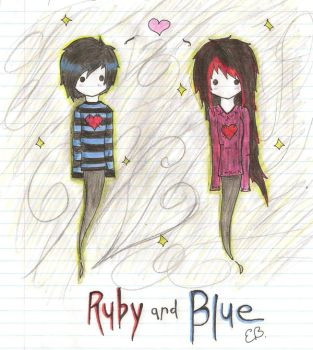 Ruby and Blue by Emalynne-Blackwell