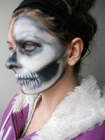 First attempt at skull makeup by MakeUpArtSteph