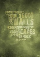 TCM - Learned Behavior Lyric Poster by sdwhaven