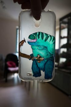 My phone could eat an anchovy! (case only) by Intrathecal