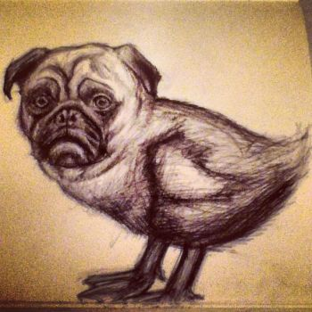 PUGly duckling by DrChainsawHandz
