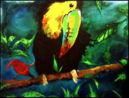 Toucan acrylic painting by gunzet