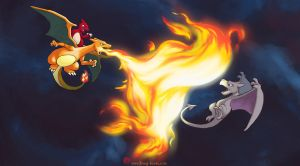 ReCAp Flaming Charizard team by Ninja-Jamal