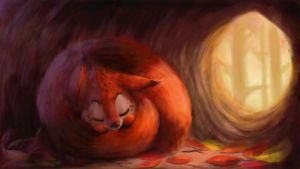 Autumn nap by lilibz