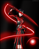 commission - Rukia goes Tron by Rosvo