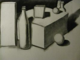 Charcoal Still Life by SpiralRaccoon