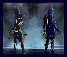 KH:3D Tron x Armored Ventus Nightmare by vvmasterdrfan