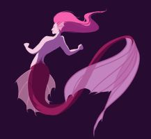 Pink mermaid by bruncikara