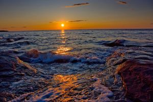 Yellow sunset 2 by Michel1963