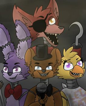 Fnaf- The Original Crew  by Animals4Eva