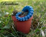 Handcrafted Polymer Clay Tentacle Plant by PascalunaOriginals
