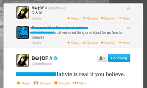 'Jahvie is real if you believe' by crimsonfirefox