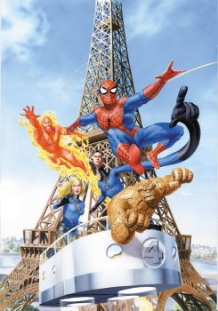 Spidey FF ComicBox Painting by mikemayhew