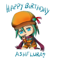 Birthday Gift - Ashflura by kdareena