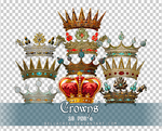Crowns PNGs by Bellacrix