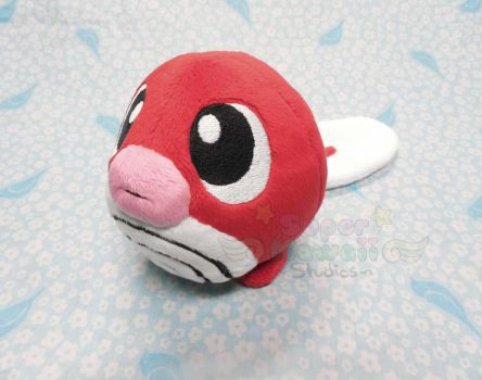 Red Poliwag Plush by SuperKawaiiStudios