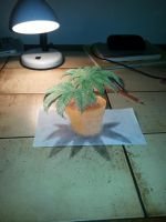 Marijuana pot - 3D Anamorphic Drawing by Kerle3