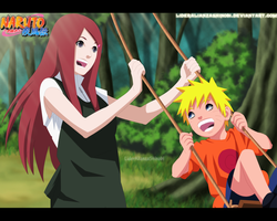 Kushina and Naruto by LiderAlianzaShinobi