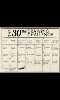 repost: 30 day drawing challenge by fire862