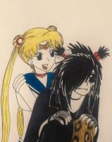 Andy Biersack and Sailor Moon by kittykatc666