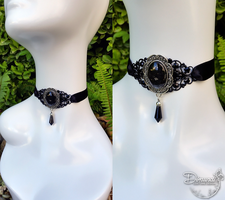 Victorian, Gothic Black Filigree Choker by dimundi-official